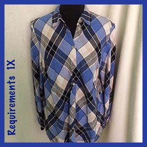 Requirements / Size 1X / Bold Plaid Shirt
